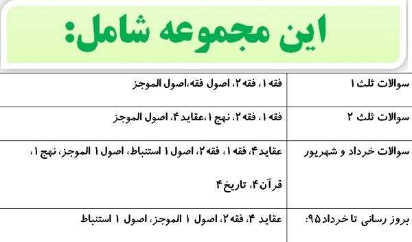 نمونه سوال پایه 4 حوزه علمیه خراسان
